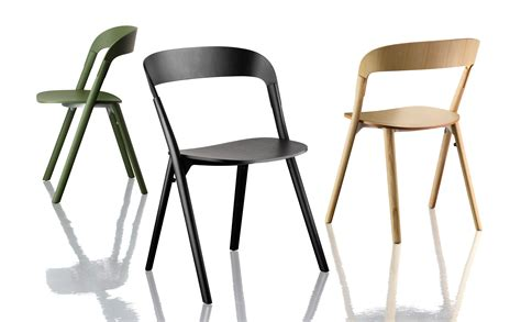 magis furniture pila stackable chair wood black by magis