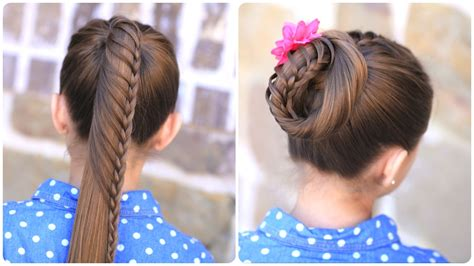 Lace Braided Ponytail And Updo