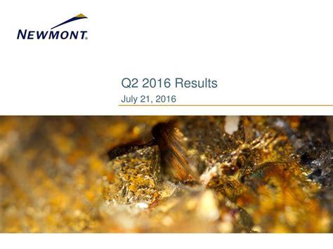 Newmont Mining Corporation (Holding Company) 2016 Q2 ...