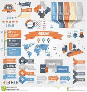 Infographics Set With Options  Business Icons And Charts