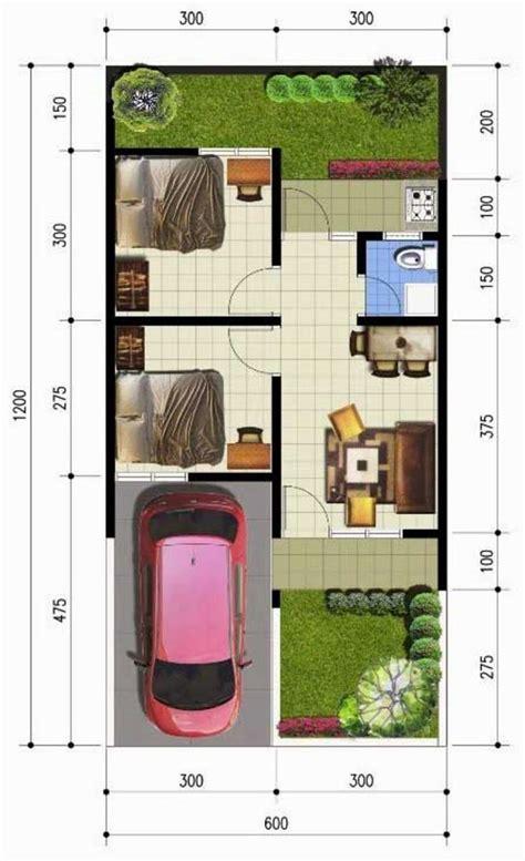 denah rumah sederhana  meter kpr minimalis ornamen