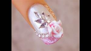 Easy Nail Art Designs At Home For Beginners Water Marble Effect French Tip Acrylic Rose Pearls Bridal