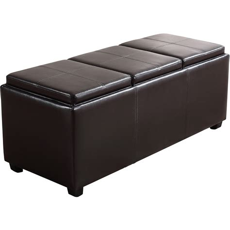 Storage Ottomans With Trays - avalon large storage ottoman with 3 serving trays ebay