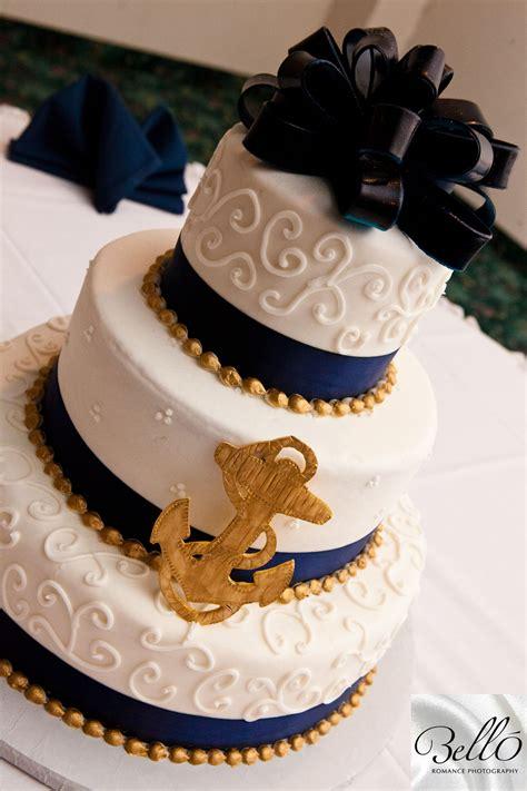 cute sailor themed wedding cake   military newlyweds   navy weddingcake