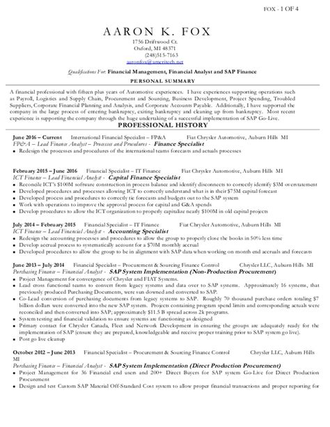 aaron fox resume june 2016