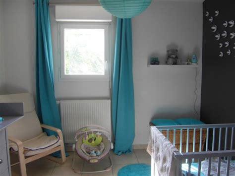 deco chambre bebe gris et turquoise visuel 2