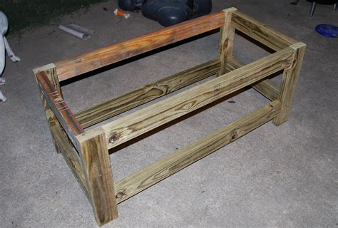 Diy Patio Bench Plans by White Beefed Up Outdoor Storage Bench Diy Projects