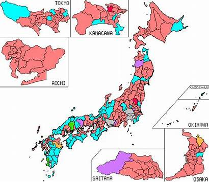 Districts Representatives Japan Election 2009 Map Electoral