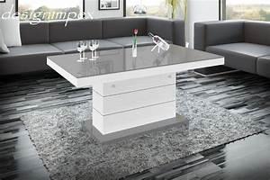 Höhenverstellbarer Couchtisch Weiß : design couchtisch h 333 grau wei hochglanz ~ Whattoseeinmadrid.com Haus und Dekorationen