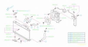 2001 Subaru Legacy Fan  Engine  Cooling  Radiator  Blade