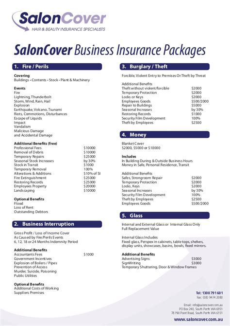 saloncover business insurance