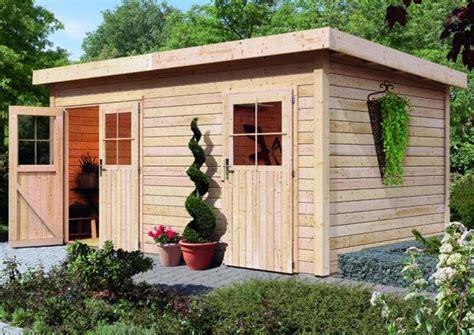 woodfeeling gartenhaus mattrup flachdach 28 mm mittelwand natur