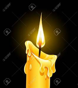 Candle clipart melting candle - Pencil and in color candle ...