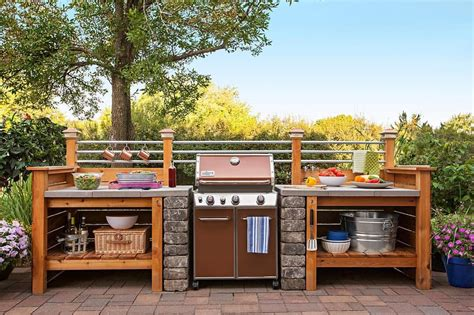 cost of an outdoor kitchen get the look of an expensive outdoor kitchen without the cost surround a gas grill with a