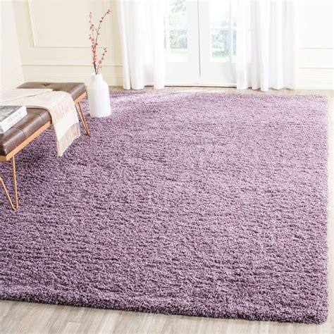 purple area rugs safavieh laguna shag purple 8 ft x 10 ft area rug