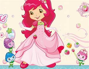 Fleece Wall Mural Strawberry Shortcake - Princess Brand ...