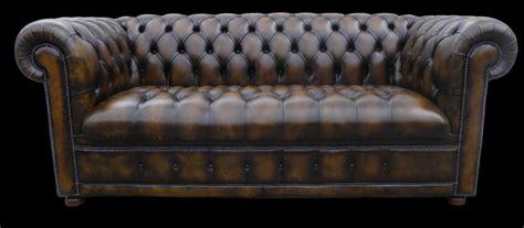 canap lit chesterfield canapé chesterfield lit 3 places marron patiné longfield