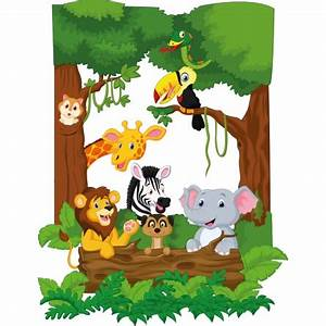 Stickers Animaux De La Jungle : stickers animaux de la jungle des prix 50 moins cher qu 39 en magasin ~ Mglfilm.com Idées de Décoration
