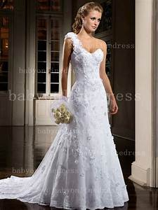 wholesale one shoulder bridal gowns with full flowers With floral wedding dresses for sale