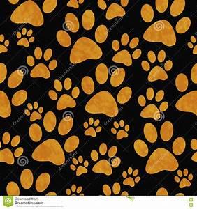 Colorful Paw Prints Pattern Cartoon Vector | CartoonDealer ...