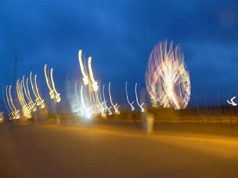 blurred fun fair photograph