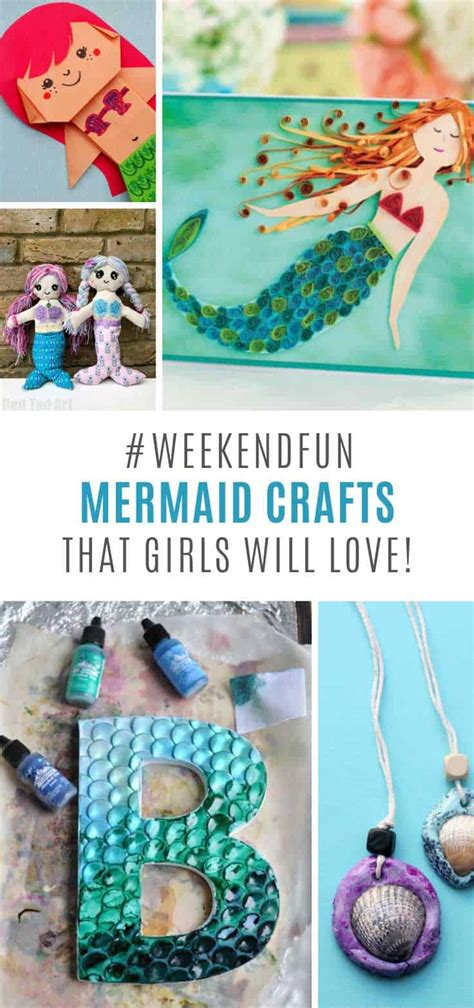 mermaid craft ideas  kids    weekend