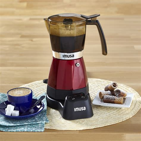 Shop for imusa stovetop coffee maker online at target. IMUSA IMUSA Electric Moka Maker 3 cup & 6 cup 480 Watts, Red - IMUSA