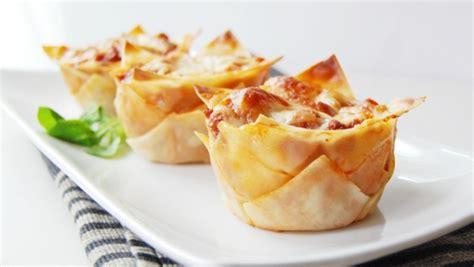 minis lasagnes recettes de cuisine trucs et conseils canal vie