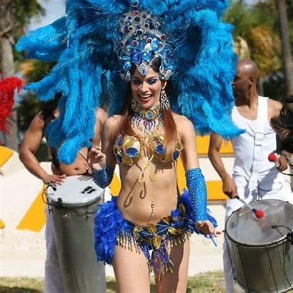 Samba Dancing Carnival Carnaval Least Woman Highlights