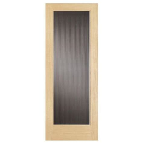 home depot interior doors with glass steves sons 30 in x 80 in modern full lite solid core pine reed glass interior door slab