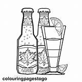 Beer Colouring Coloring Bottle Adult Husband Printable Wife Grown Sheets Night Template Cocktail Flower Lets sketch template