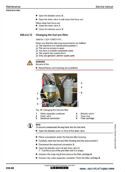 liebherr wheel loader l524 1266 service manual heavy equipment liebherr l524 1266 wheel loader service manual pdf