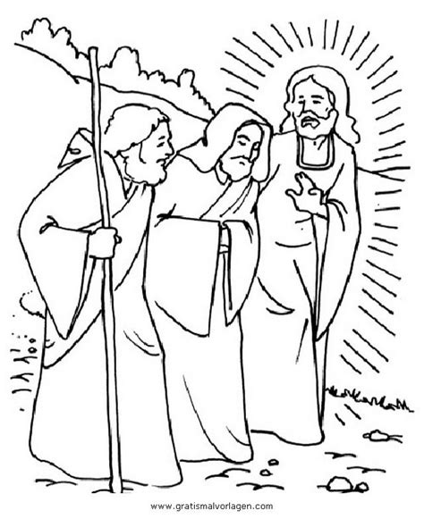 Emmausgangers Kleurplaat by Road To Emmaus Coloring Page Coloring Home