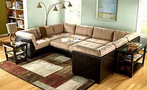 Living room ideas with sectionals sofa for small living for Sectional sofa set up