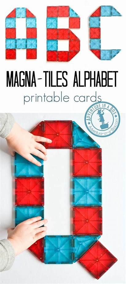 Alphabet Tiles Magna Cards Printable Tile Preschool