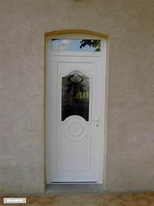 Porte D Entrée Blanche : porte d 39 entr e pvc s curit avec imposte vitr ~ Melissatoandfro.com Idées de Décoration