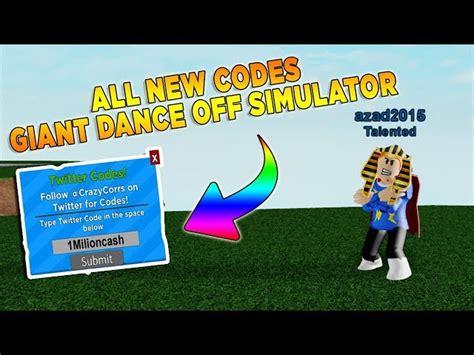 codes roblox giant dance simulator