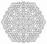 Geometric Coloring Pages Print Printable sketch template