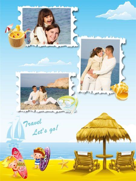 travel collage templates travel collage card add on templates download free