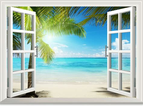 Once you've got some good wall decor ideas, you're just a step away from making your place that much more attractive and welcoming. Beach tree 3D Window Wall Decals Removable Stickers Kids Nursery Decor | eBay