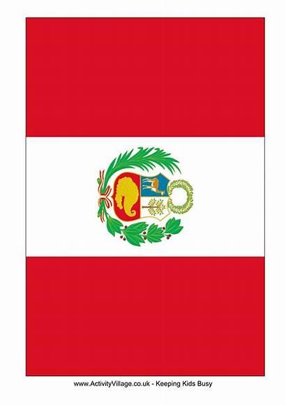 Peru Flag Template Printable A4 A5 Flags