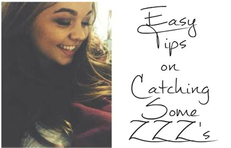 Easy Tips For Catching Some Zzz's