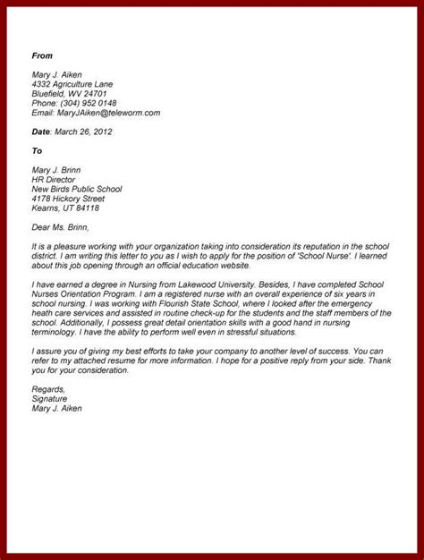 Cover Letter For Nursing Application by Cover Letter For Application To Nursing School Drugerreport732 Web Fc2
