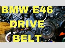 Serpentine,drive belt removal in BMW e46 M52TUM54 engine