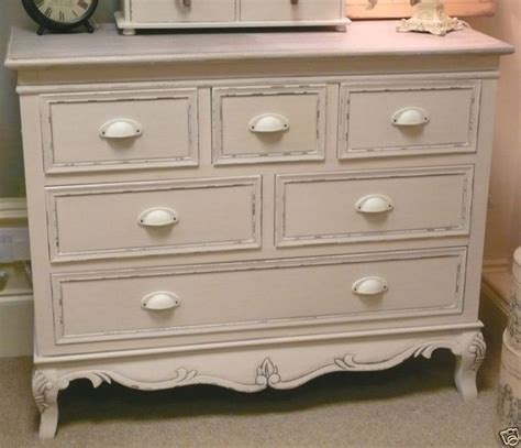 large CHEST OF DRAWERS cream french vintage shabby bedroom