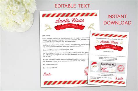 letter  santa editable file letter  santa