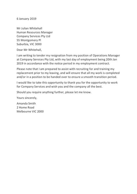 Browse Our Image of Resignation Letter For Personal Reason With One Month Notice in 2020