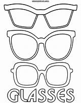 Glasses Coloring Template Sunglasses Pages Printable Sheets Eyewear Templates Types Colorings Printables Sketch Info Coloringway sketch template