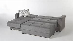 Large 3 piece microfiber tufted sectional sleeper sofa for Large 3 piece sectional sofa