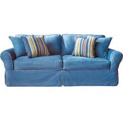 cindy crawford home beachside denim sofa rooms to go